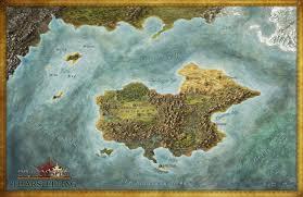 Blank Fantasy World Map by Portfolio Fantasy Maps