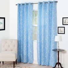 Blue Window Curtains Floral Curtains Drapes Window Treatments The Home Depot