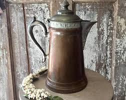 antique pot metal ls pot and kettle etsy