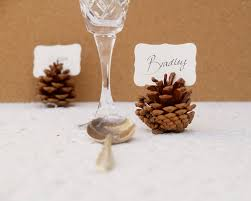 woodland wedding place cards 20 pine cone holder table setting
