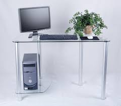 amazon com tier one designs clear glass computer desk with tower