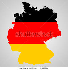 map germany map germany german flag illustration map stock vector 593456354