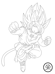 dbz gt coloring free download