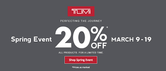 deal combine the great tumi sale with more discounts