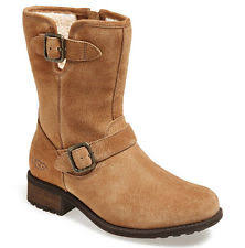 s ugg australia chaney boots ugg australia womens chaney chestnut suede buckle moto boot size