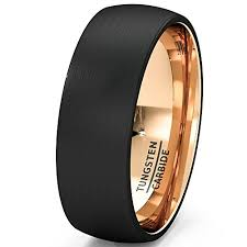 mens wedding bands that don t scratch mens wedding band black gold tungsten ring brushed surface