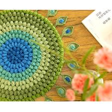 Feather Seat Cushions Crochet Sofa Peacock Feather Seat Cushion Perfect Quality Hand