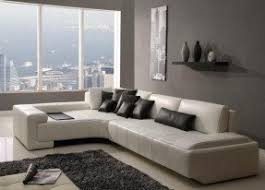 White Sectional Sofa Small White Leather Sectional Foter