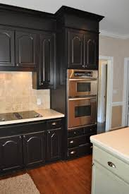 Black Or White Kitchen Cabinets by Kitchen Black Kitchen Cabinets With Brown Granite Countertops And