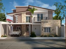 modern two house plans two storey residential house home design