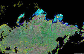 Map Of Russia And Alaska by Russia Map And Satellite Image