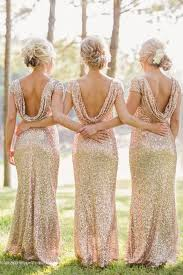gold bridesmaid dresses open back sparkly and glittery gold bridesmaid dresses