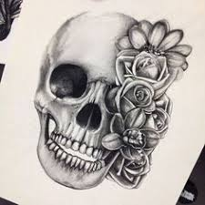 beautiful skull tattoos for search ornaments