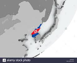 Korea On Map National Flag North Korea Map Stock Photos U0026 National Flag North