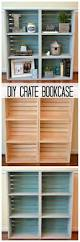 18 clever organizing hacks crate bookcase crates and artsy