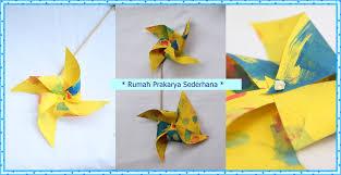 cara membuat origami kincir angin kincir sepeda mandira tim rw