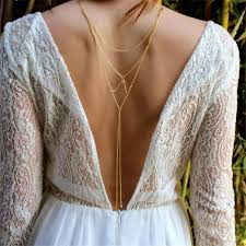 back necklace gold images Vintage gold color crystal party dress back necklace body jewelry jpg