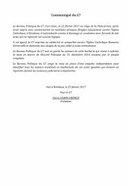 le bureau la garde rdc g7 communique du g7 22 02 2017 minbane