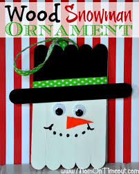 wood snowman ornaments christmas craft