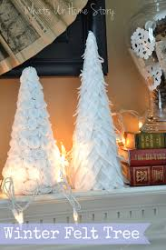 winter felt tree whats ur home story
