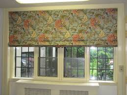 Flat Roman Shades - flat roman shade in floral fabric window wear etc