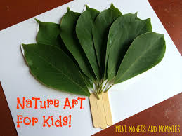 mini monets and mommies kids u0027 nature art make a leaf fan