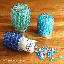 Diy Garden Crafts - how to make garden treasure jars empress of dirt
