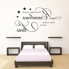 art on bedroom walls wall art sticker quotes for bedroom because someone we love is in