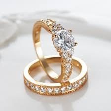 rings women images Gulicx heart shape zircon 2 pieces women rings female set wedding jpg