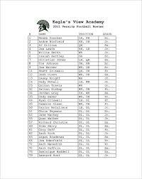 Football Depth Chart Template Excel Printable Football Template 10 Free Word Excel Pdf Formats