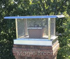 Outdoor Fireplace Caps by Chimney Caps U0026 Dampers Southern Md Magic Broom Chimney Sweeps