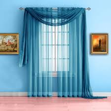 warm home designs turquoise window scarf sheer turquoise curtains