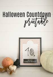 how many days till halloween halloween countdown printable