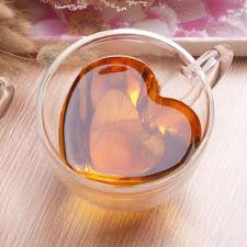 heart shaped items komiikka 240ml romatic wall glass heart shaped tea cup