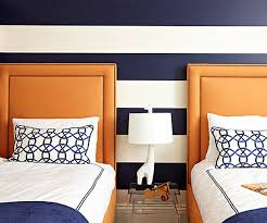 from navy to aqua summer time decor in shades of blue