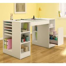 White Desk With Drawers On Both Sides by Scrapbook Desk Ideas Best Home Furniture Decoration