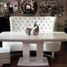 Modern White Dining Room Table Contemporary White Chesterfield Sofa With Modern White Gloss
