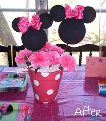 minnie mouse center pieces diy minnie mouse flowerpot centerpiece
