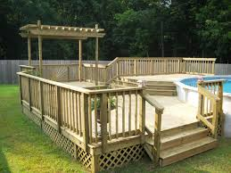 Backyard Above Ground Pools by Above Ground Swimming Pools With Decks Square U2014 Amazing Swimming Pool
