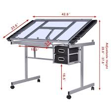 Drafting Table With Light Box Drawing Table Light Box Drafting Desk Art Adjustable Craft Board