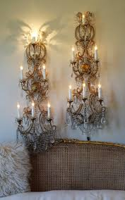 Chandelier Wall Sconce Rare Antique Pair Italian Macaroni Beaded Wall Sconces 4 Footers