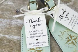 tags for wedding favors thank you tag wedding favor tag luggage favor tag