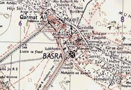 map of basra mind coxon s on line journal