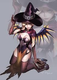 overwatch halloween mercy artstation halloween angel momori 68 overwatch pinterest