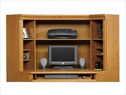 Wrap Around Computer Desk Furniture Contemporary Home Office Idea With Computer Armoire