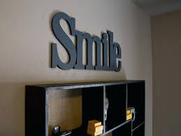 wood words wooden letters decoration ideas connected wood words custom made 1
