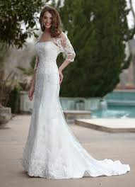 simple lace wedding dress 6 simple wedding dresses with sleeves