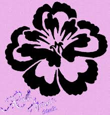 6 best images of flower power stencil printable rose flower