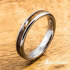 koa wedding bands wedding rings in tungsten koa wood ceramic stainless gold