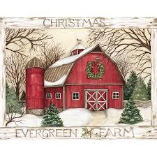 boxed christmas cards boxed christmas cards evergreen farm artist susan winget
